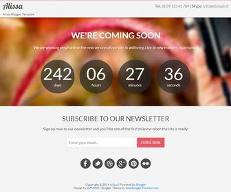 Alissa is a coming soonunder construction blogger template built alissa is a coming soonunder construction blogger template built with twitter bootstrap alissa blogger template can be used to launch a new project or maxwellsz