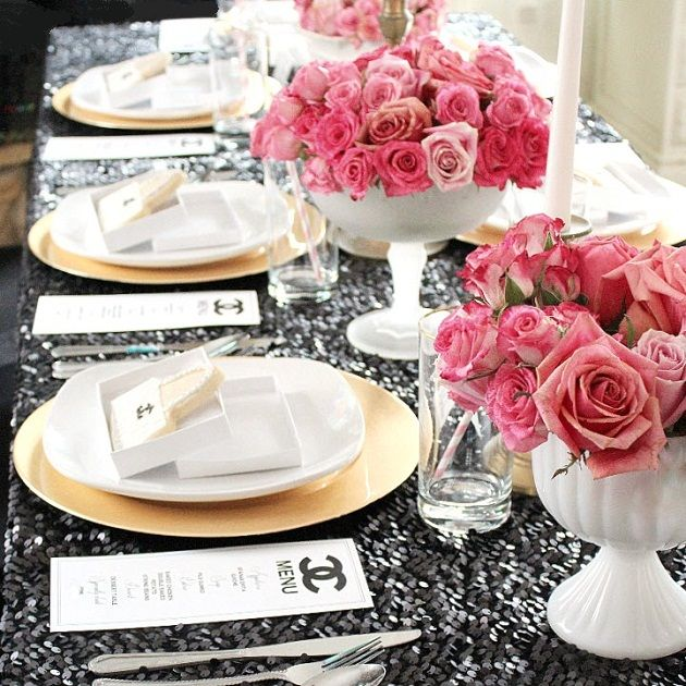Chanel Themed 21st birthday party {Guest Feature