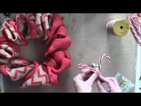 Christmas wreath using Wire Hangers DT Nov KS4U - YouTube