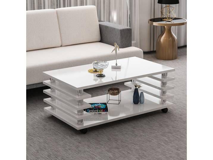 Couchtisch Tisch Wohnzimmertisch Weiss Hochglanz Neu 44cm Hoch Home Decor Furniture Decor