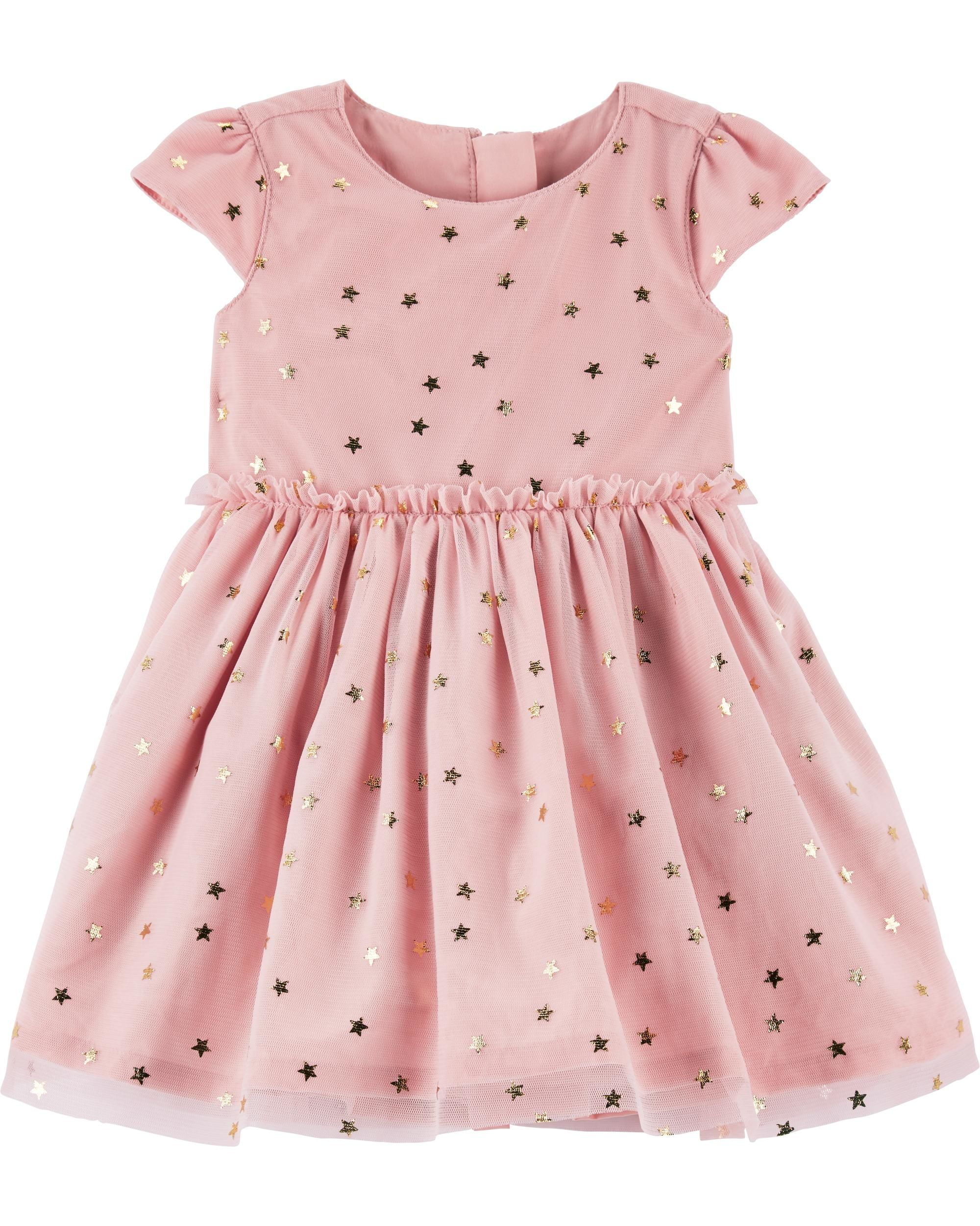 7a32fdfca Star Tulle Holiday Dress | Wedding Ideas | Baby girl dresses, Pink ...