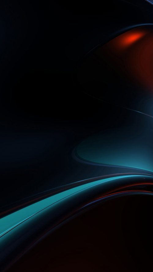 Cool Phone Wallpapers 02 with Dark Blue Background and Abstract Lights