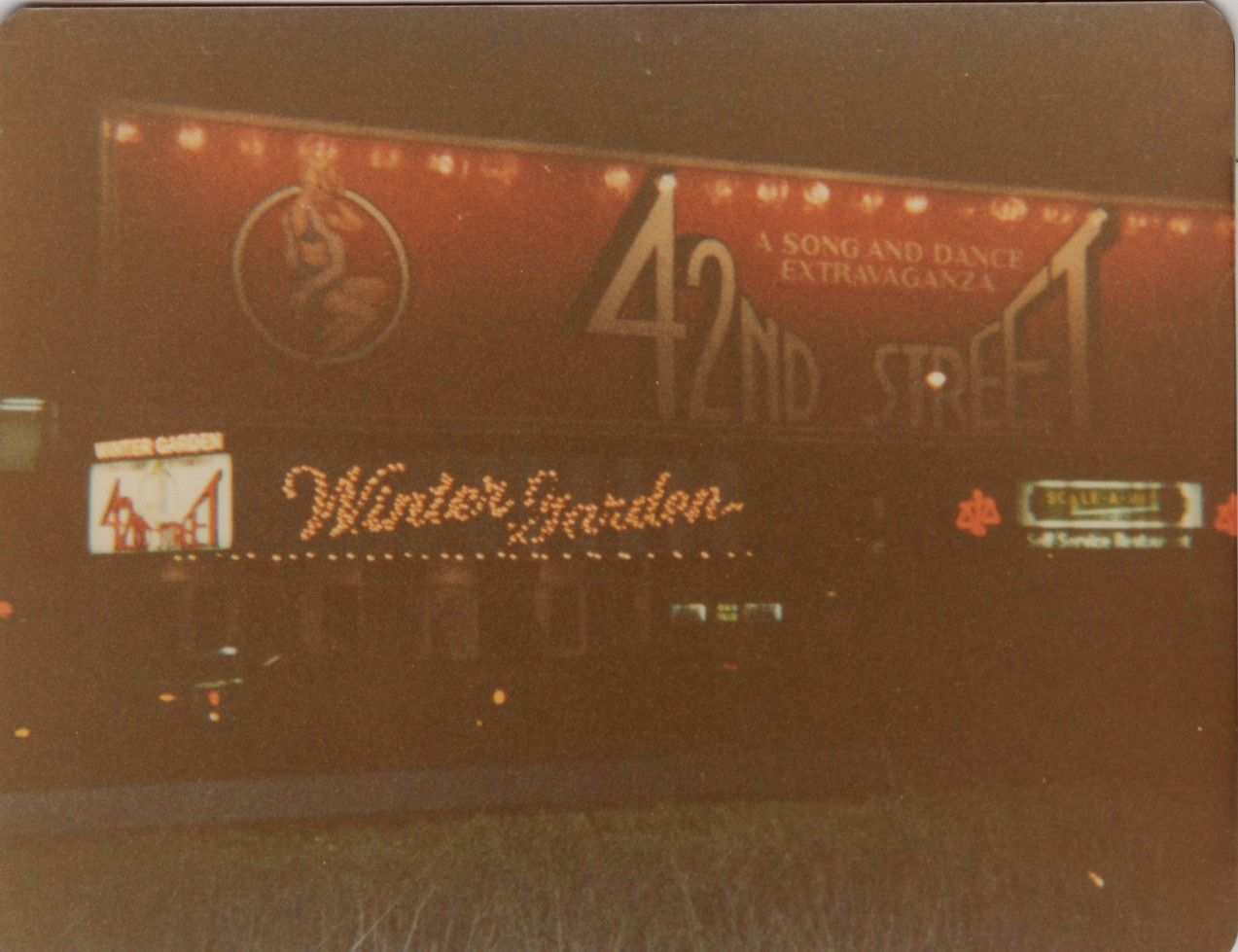 42nd street at the winter garden theatre nyc december 1980