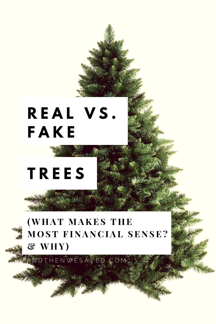 Let's Talk Christmas Tree Costs: Real Vs. Fake | Fake ...