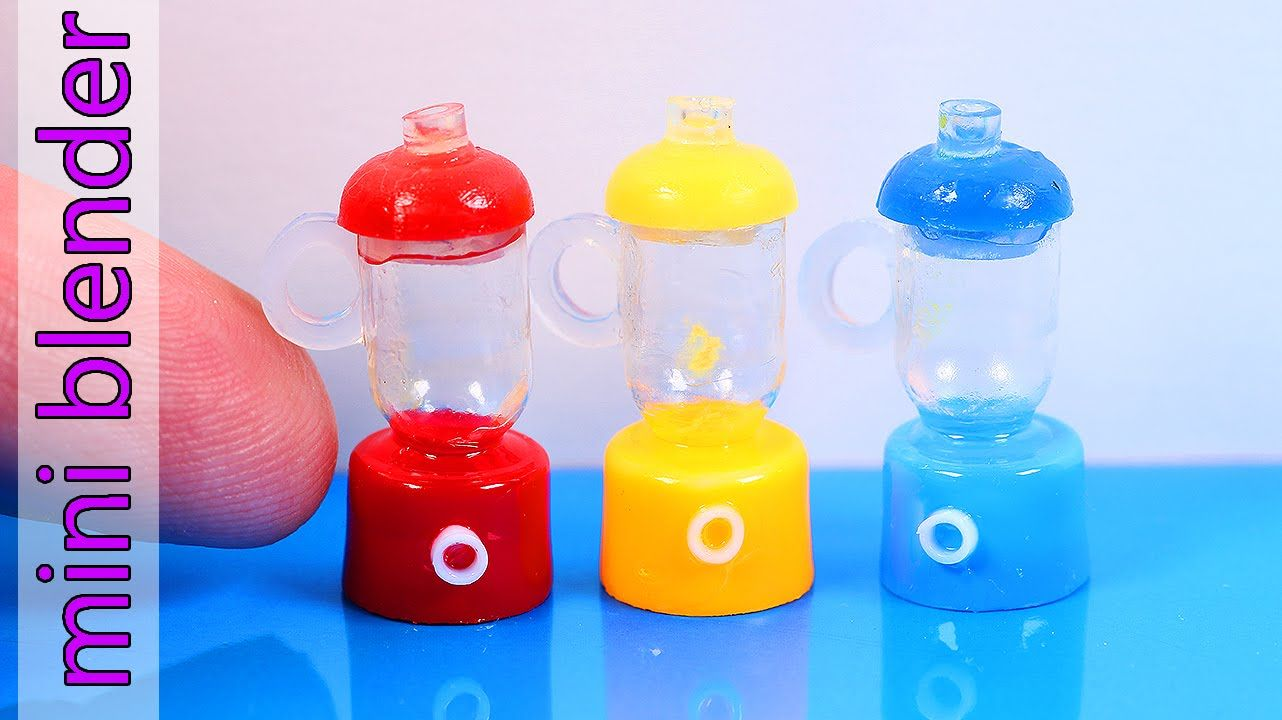 Miniature Blender Diy World S Tiniest Doll Blender Dollhouse