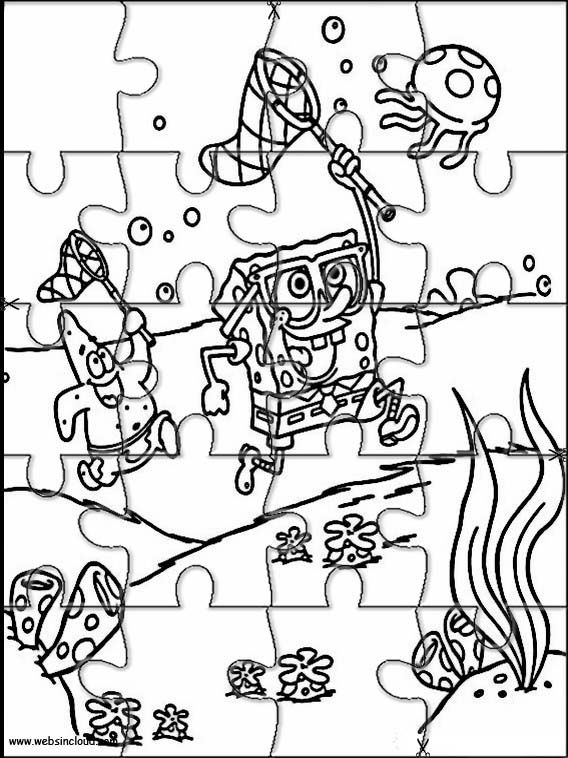 Printable jigsaw puzzles to cut out for kids SpongeBob 2 | Aiden\'s ...