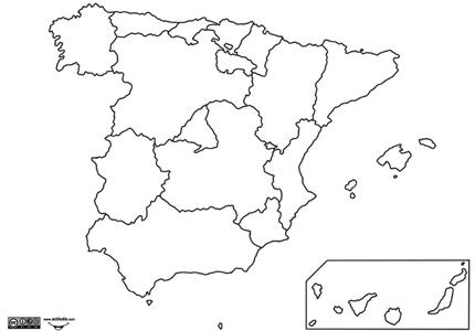 mapaautonomico1x1  DIA DE LA CONSTITUCIN  Pinterest  Mapas