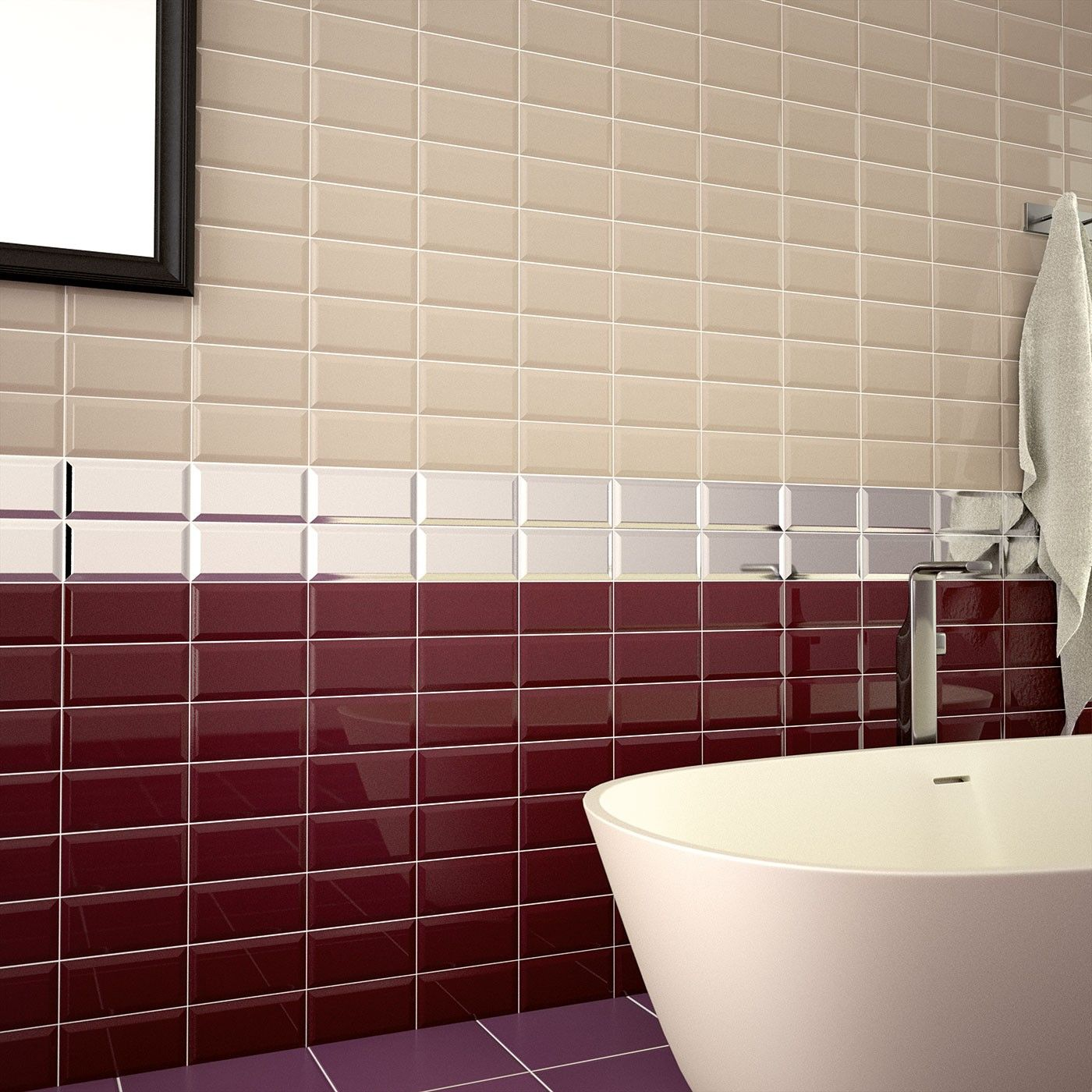 New Metro Plum 100 x 200 Ceramic Wall Tile | kitchen makeover ...