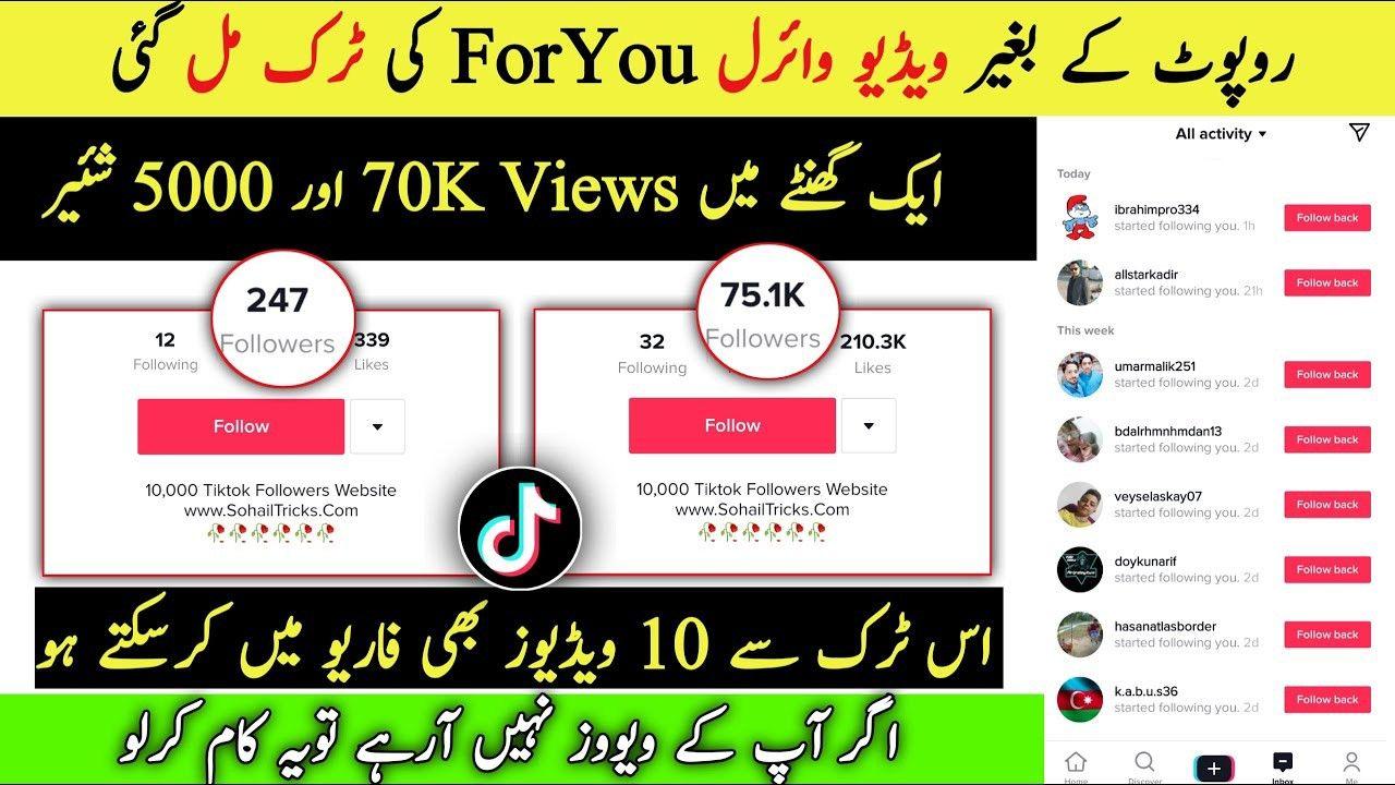 Tiktok 100k Followers First Video Viral Trick Just 4 Settings Tiktok First Video Viral Trick Live Editing Pictures Edit Online Real Followers
