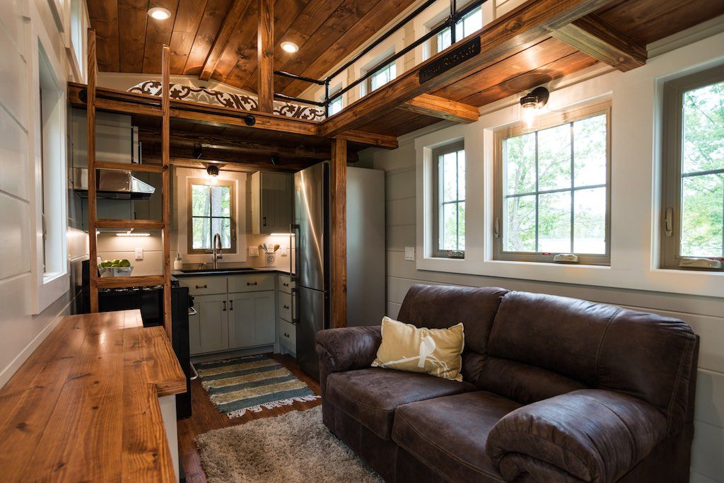 The Retreat   Pinterest   Tiny houses  Craftsman style and Craftsman A craftsman style  custom tiny house on wheels built by Timbercraft Tiny  Homes in Guntersville  Alabama