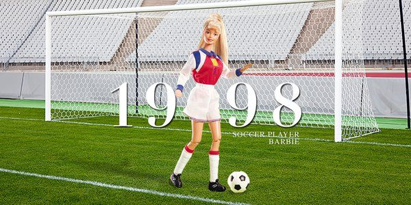 Barbie knows that all girls have goals. On and off the field. #TBT Soccer Player Barbie, 1998. #YouCanBeAnything