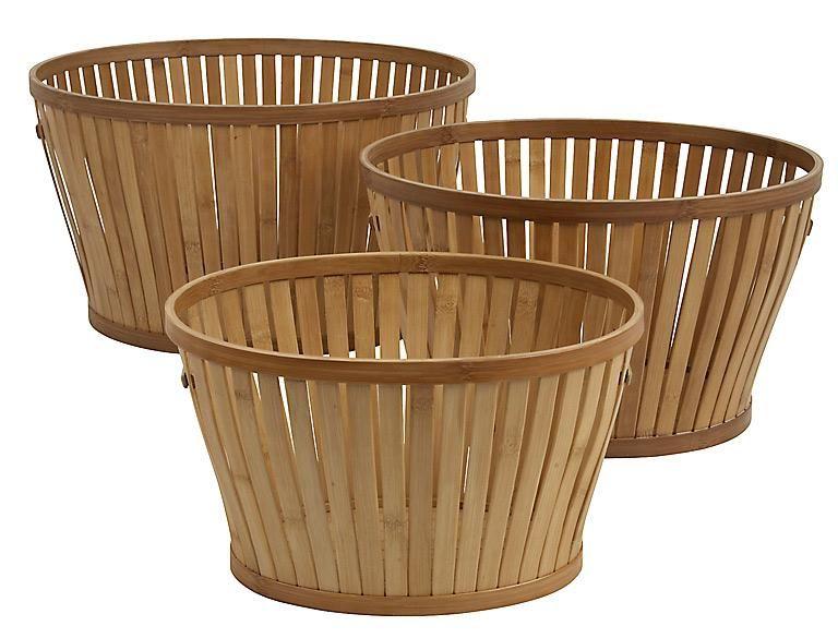 Baddeko u2013 schöne Ideen für Accessoires Bambuskorb von Granit - badezimmer bambus
