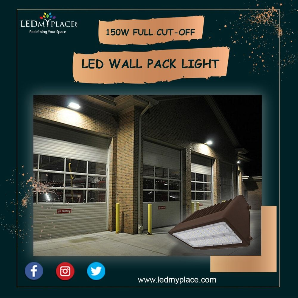 150w Full Cut Off Led Wall Pack Light 5700k Ac100 277v Bronze Led Wall Packs Packing Light Cool Lighting Wall