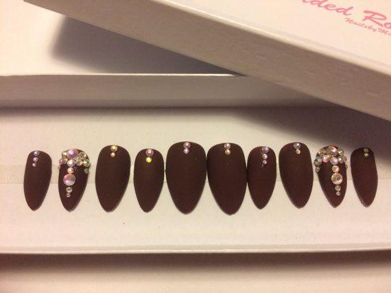 Velvetswarvoski custom designer press on nails matte glue on velvetswarvoski custom designer press on nails matte prinsesfo Choice Image
