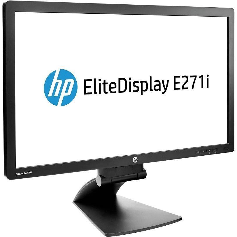 "27"" HP Elitedisplay E271i WideScreen FullHD 1080p 1920x1080 VGA DVI USB DisplayPort LED LCD Monitor Black D7Z72AA#ABA"