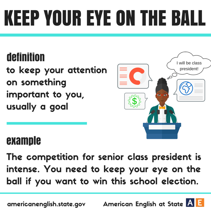 Expression Keep Your Eye On The Ball M Idioms Pinterest