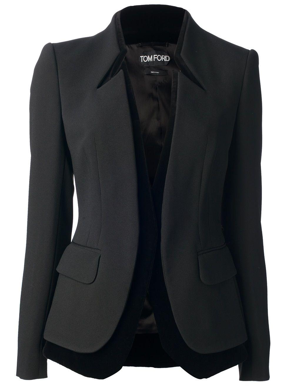 Tom Ford Contrast Trim Blazer Sacos De Moda Chaqueta