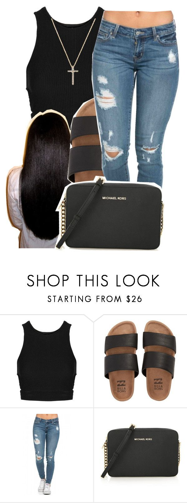 """""""6/6/16"""" by lookatimani ❤ liked on Polyvore featuring Topshop, Billabong, MICHAEL Michael Kors and Nephora"""