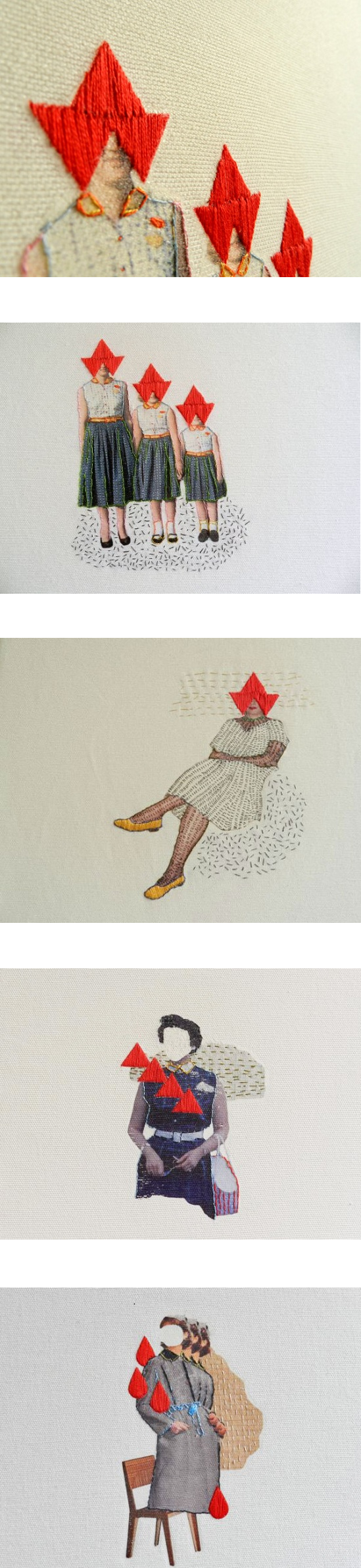 Textile Art by Hagar van Heummen of Happy Red Fish - THE ART CAKE