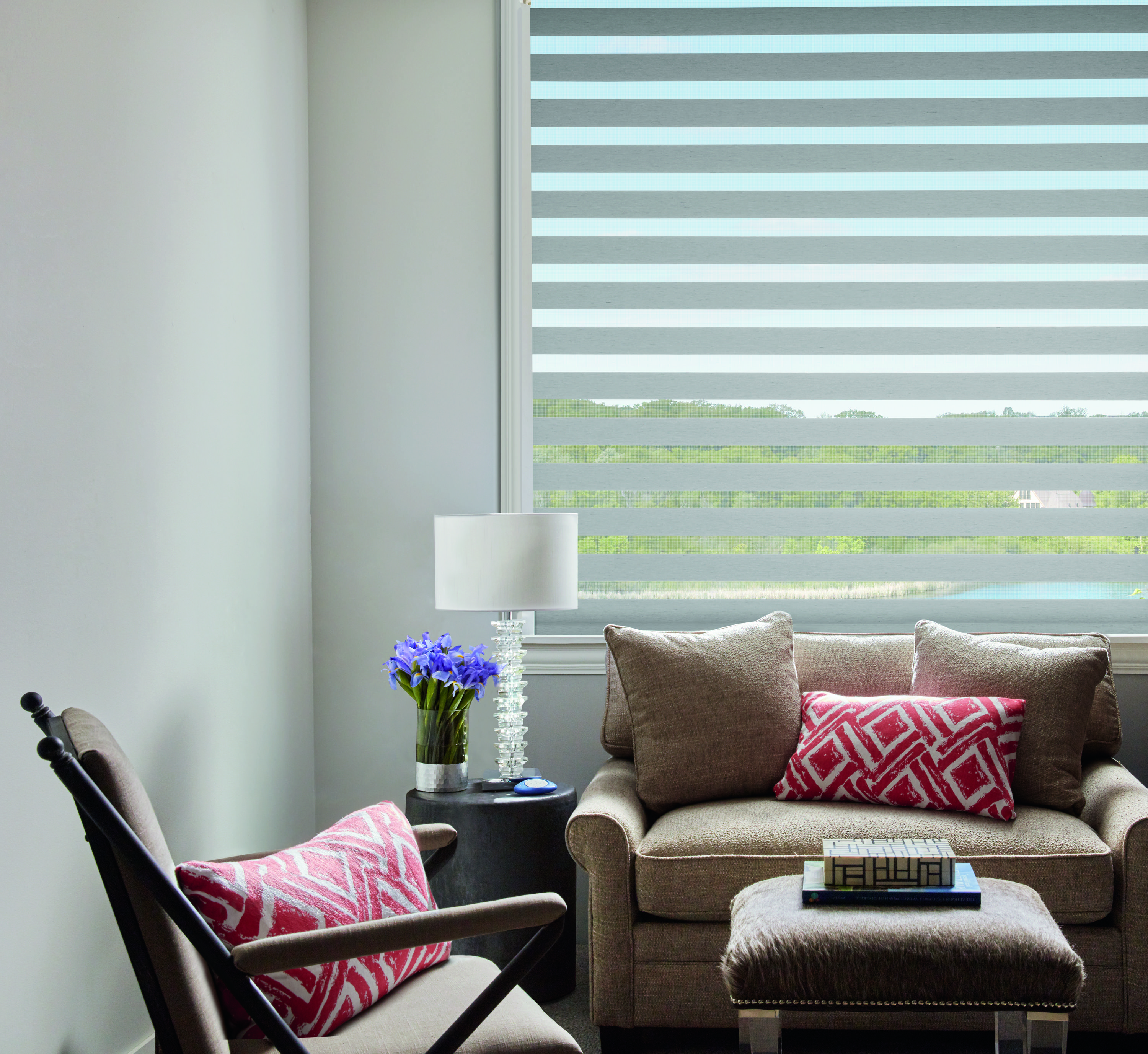 Designer Banded Shades In The Queensland Fabric Home Decor
