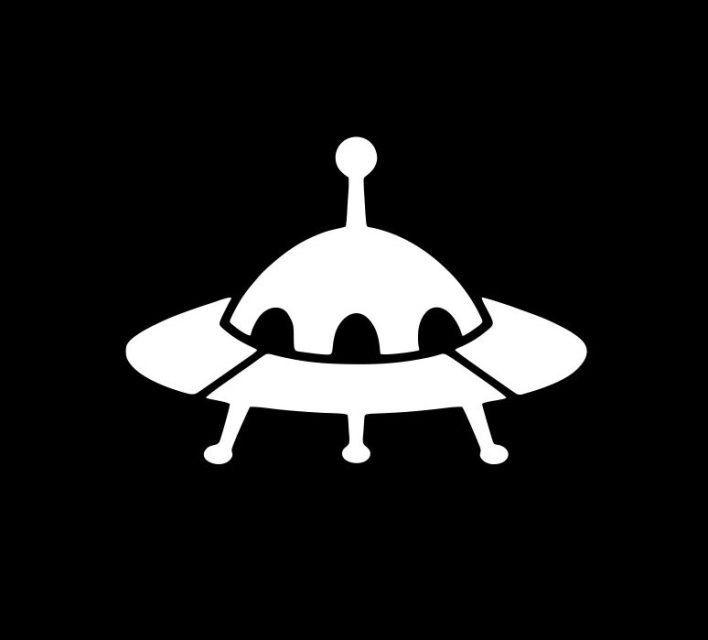 288 die cut vinyl decal ufo alien space ship flying saucer