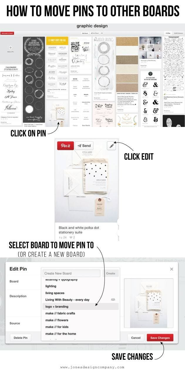 newly organized pinterest boards (and how I did it