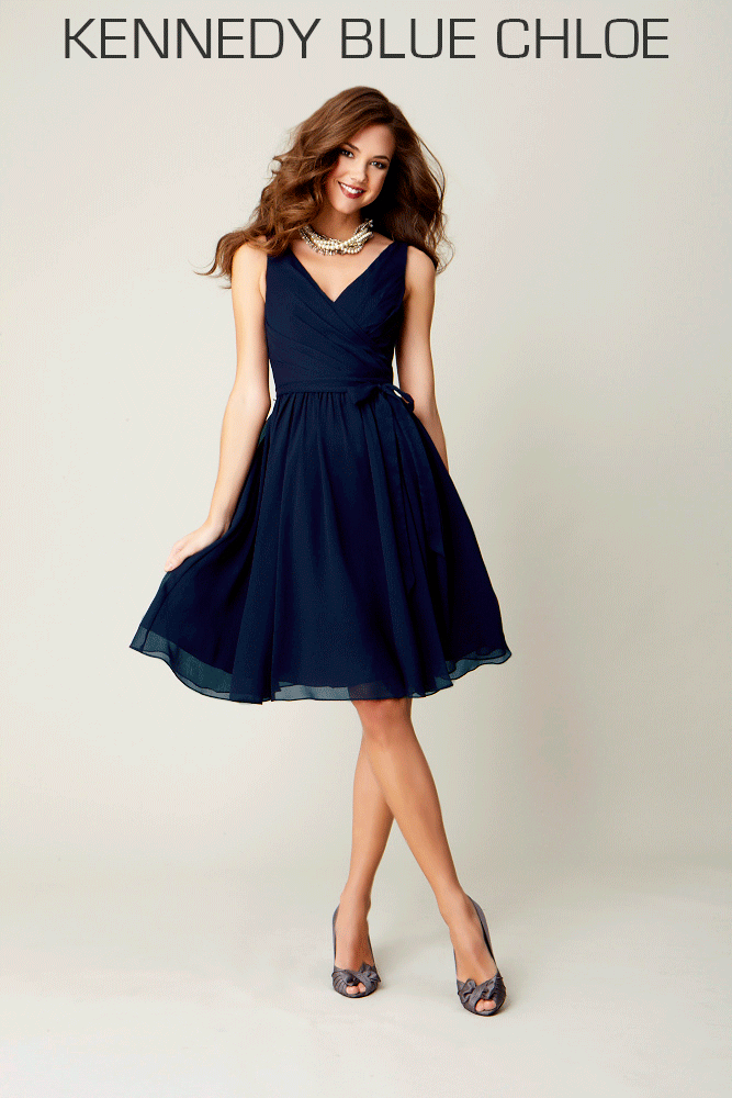 A Gorgeous V Neck Chiffon Dress The Most Flattering Dresses For Plus Size Bridesmaids