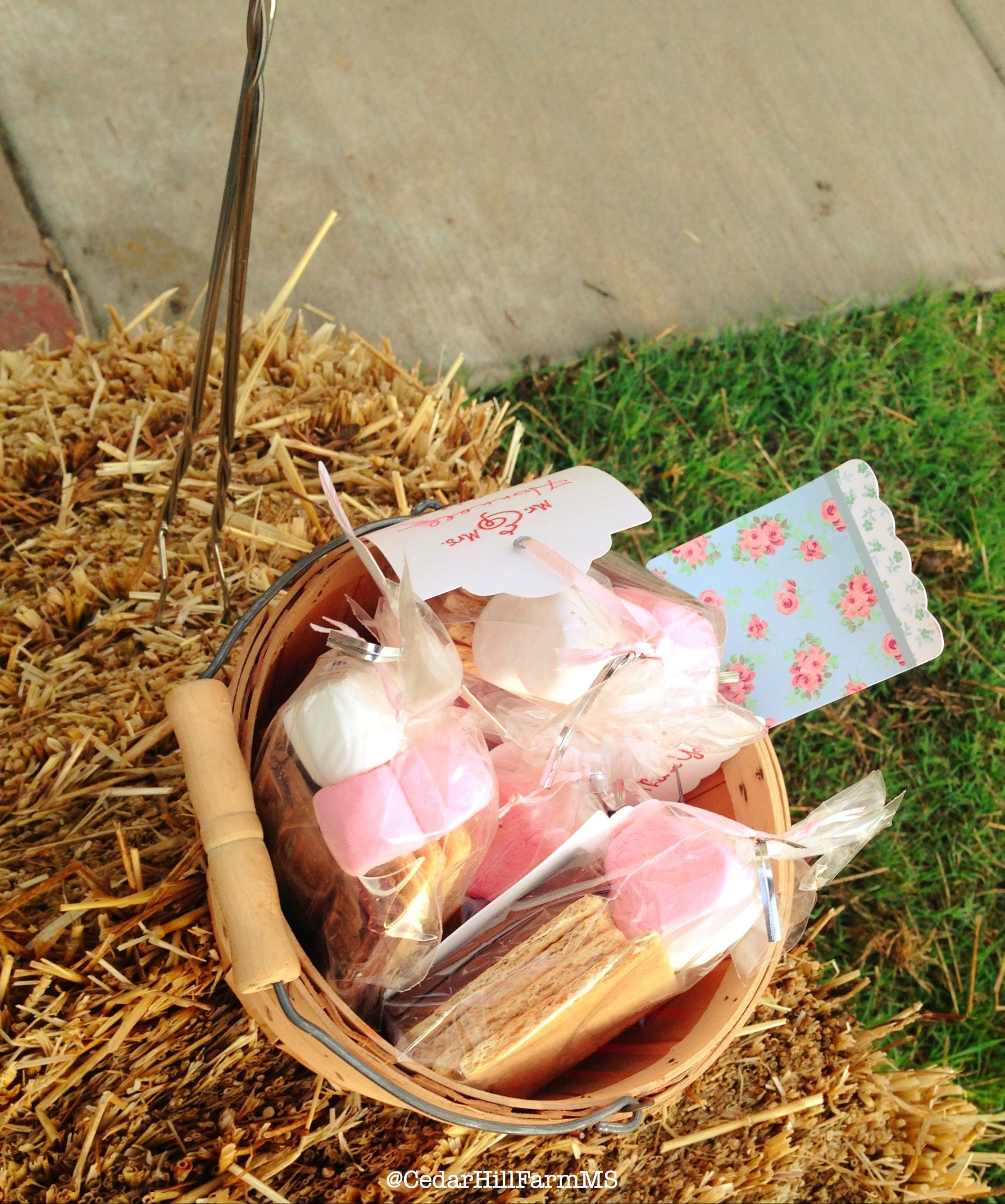 24 Outdoor Wedding Decoration Ideas: S'more Roasting Kit For Fun Around The Fire Pit