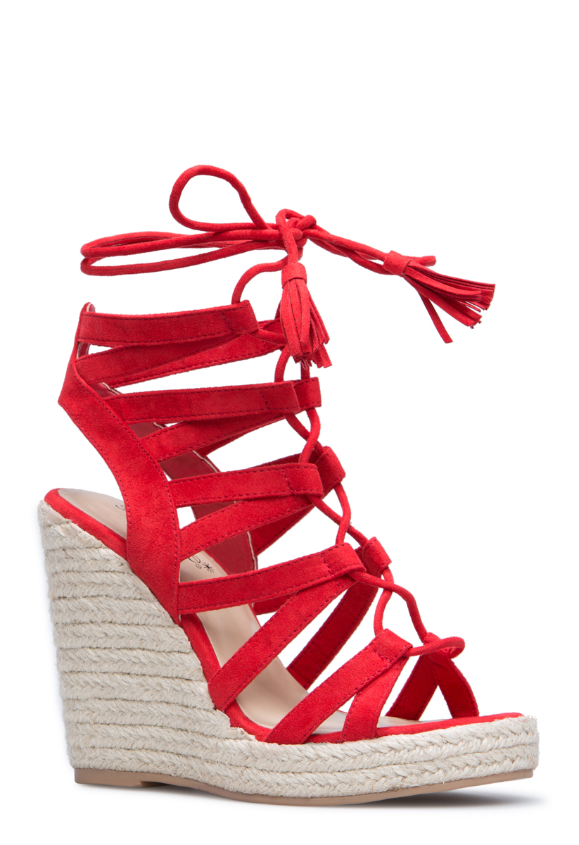ce018068ad1 Shoedazzle Wedge Anabella Womens Red Size 6.5 | Products | Red wedge ...