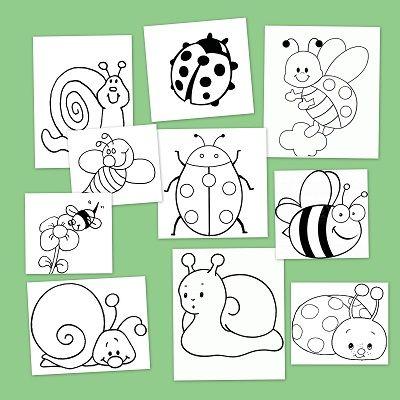 Animali Della Primavera Dibujos Para Colorear Insectos Dibujos