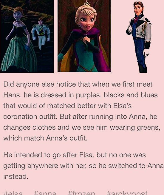 He also did fall into the water after meeting Anna so he did have an excuse to c...,  #animat...