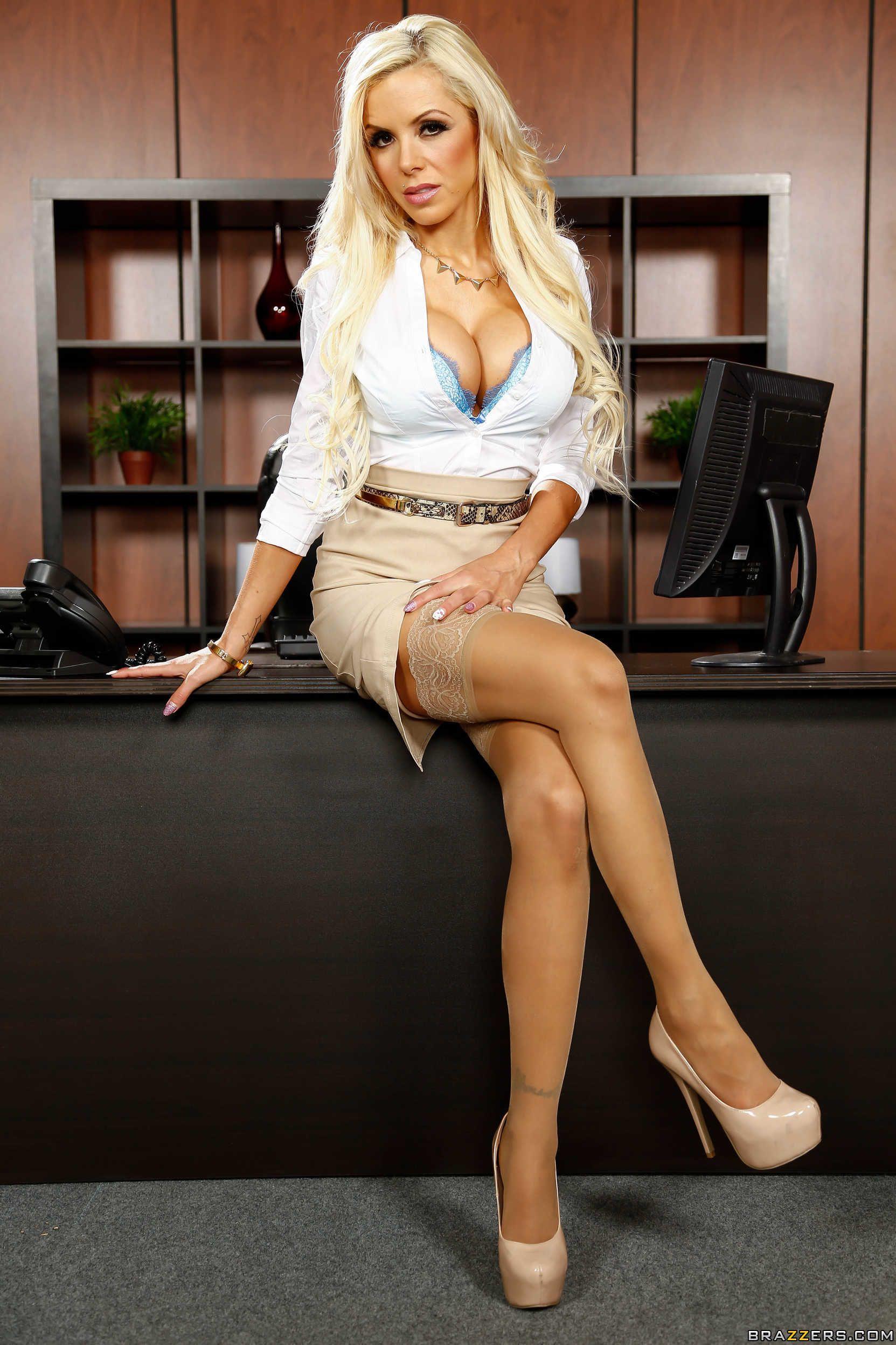 Blonde milf Nina Elle on BBC