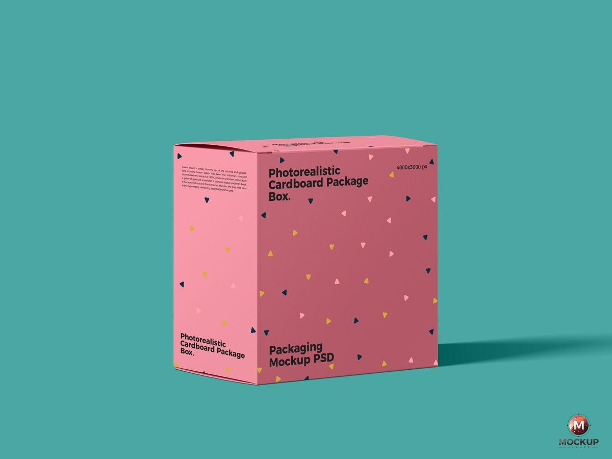 """Download Free Photorealistic Cardboard Package Box Mockup Psd 600 ˔""""자인 Ê·¸ëž˜í""""½ ́¬ë¦¬ìŠ¤ë§ˆìŠ¤"""