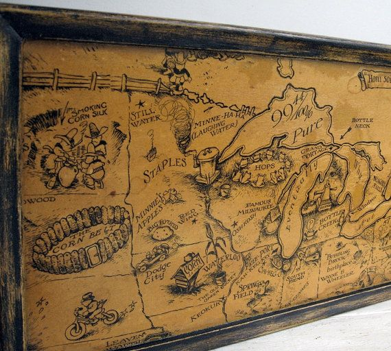 Comic Bootleggers US Map Framed Prohibition Bar By MagiaMia - Map of the us in the prohibition