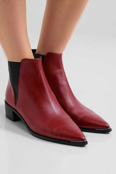 ACNE STUDIOS Jensen leather pretty Rojo leather Jensen Mujer ankle Botas  Acne d10478