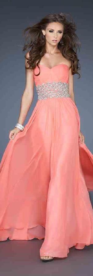 Sexy Pink Chiffon Sweetheart Natural Evening Dress tkzdresses15485ser #longdress #promdress
