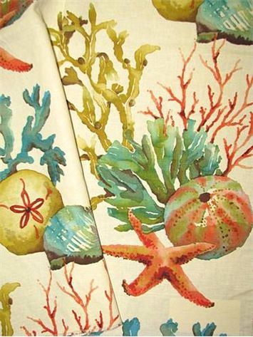 Sealife Watercolor Washed Multi Watercolor Coral Sea Life