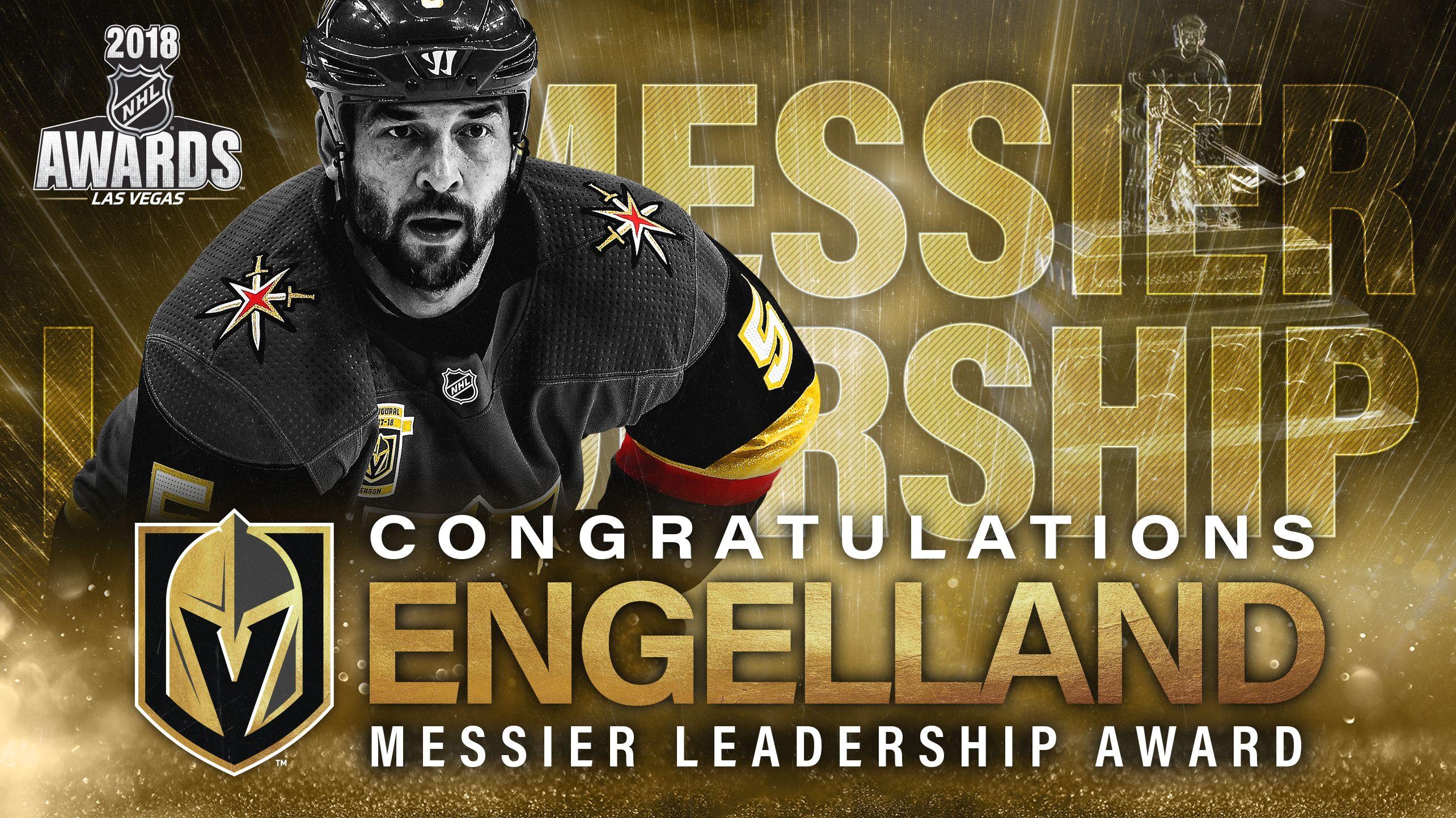 Golden Knights Engelland Presented Mark Messier Nhl Leadership