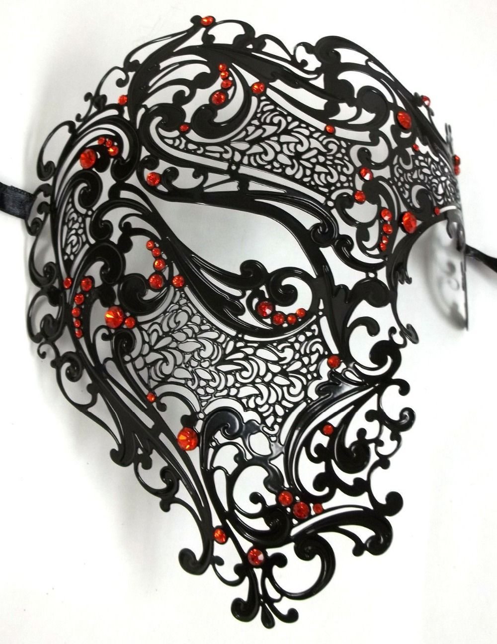 Masquerade mask masquerade mask vine mask metal lace masquerade - Free Shipping Silver Black Gold 3 Color Phantom Laser Cut Venetian Mask Masquerade Metal Men