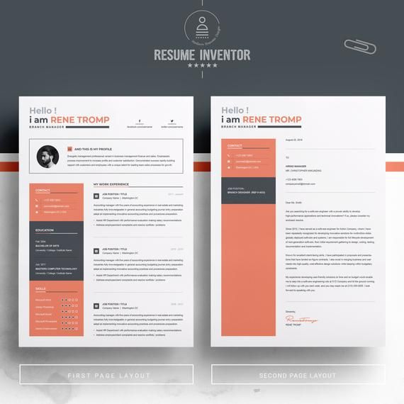Instant Resume Templates | Resume Template 1 Page Professional Resume Template For Word Cv