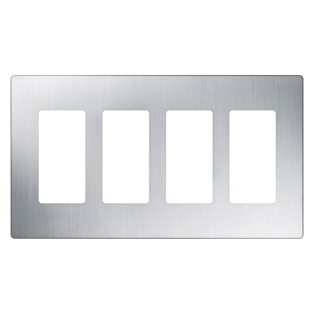 Claro 4 Gang Wall Plate Stainless Steel Plates On Wall
