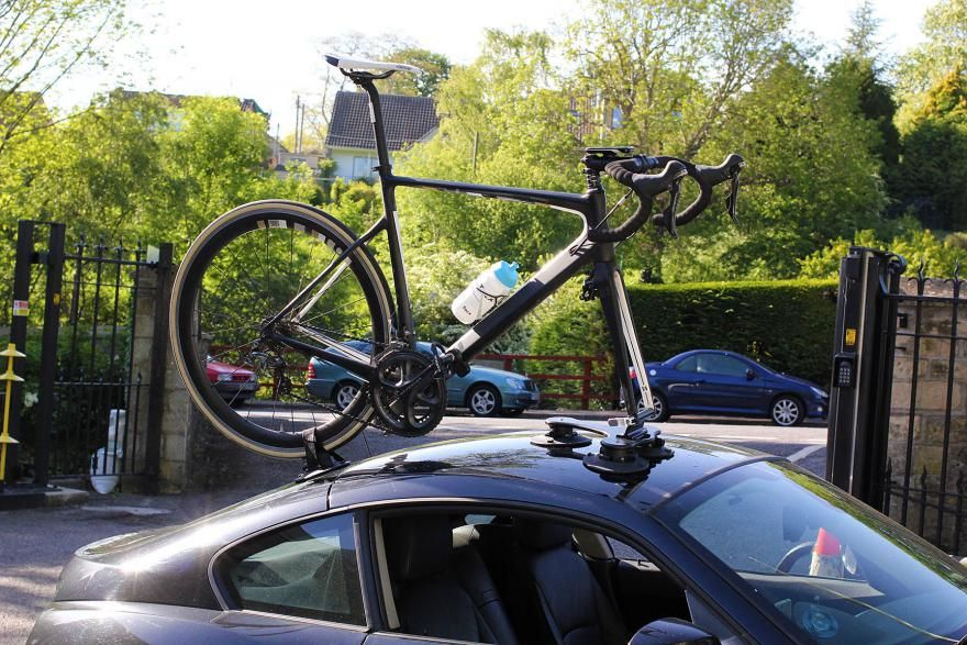 Seasucker Talon Bike Rack - Ingenious rack sticks your bike on just about any car, and it's very quick and easy to use too