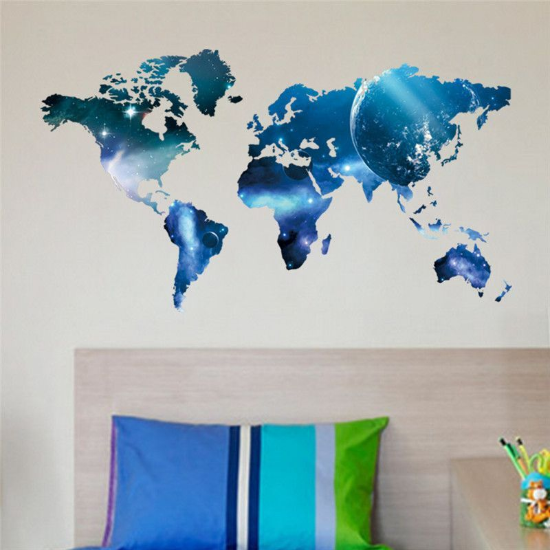 Poster letter world map quote removable vinyl art decals mural poster letter world map quote removable vinyl art decals mural living room office decoration wall stickers gumiabroncs Image collections