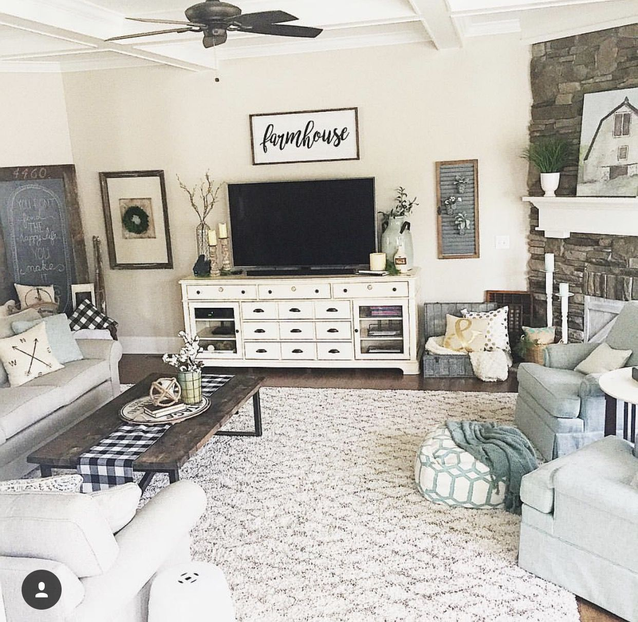 Love the tv stand as a front entry cabinet   Farm house living room, Living room tv stand ...