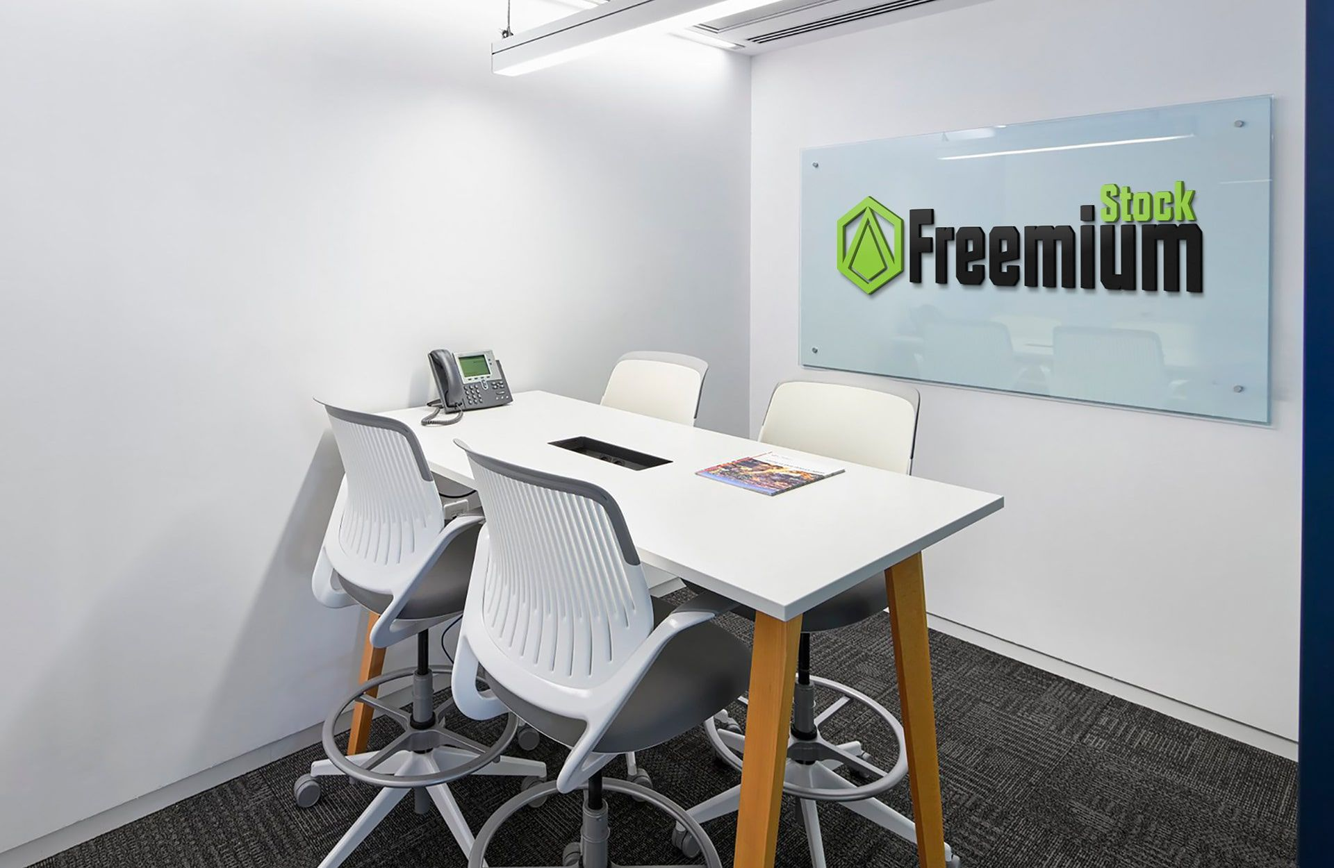 Free office interior mockup