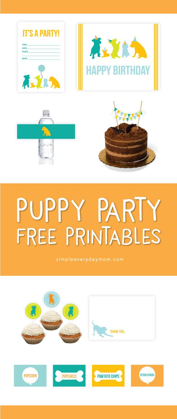Puppy Party Theme Free Printables