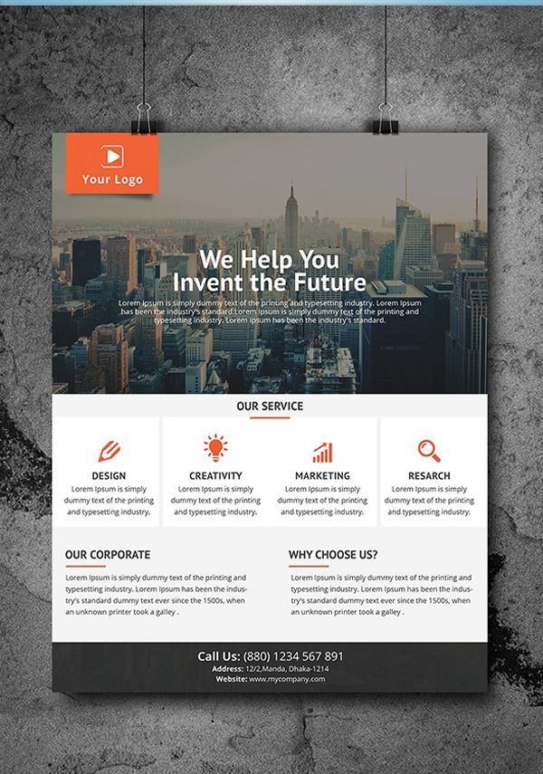 Simply Flyer Template Design web design ideas Flyer design