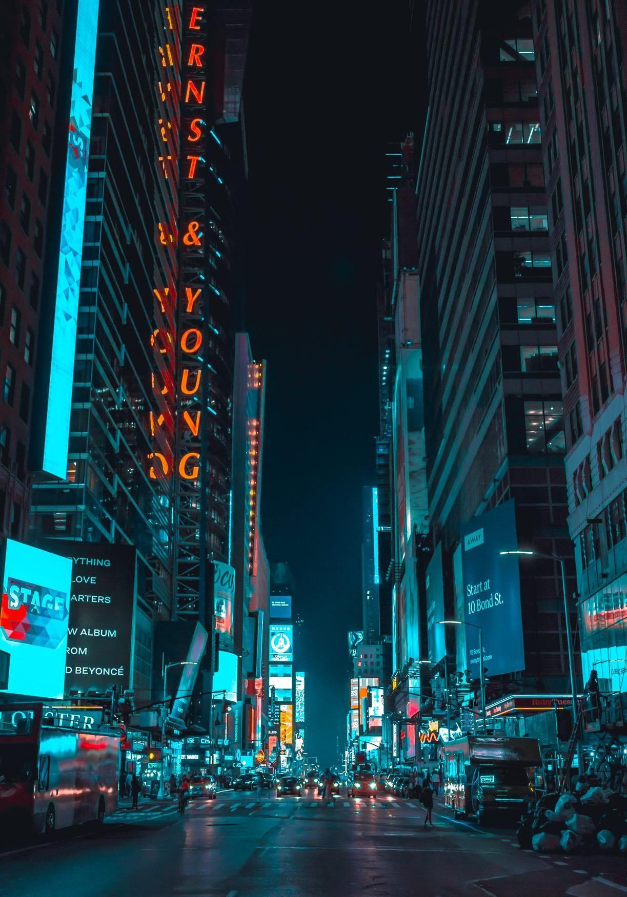 Cyberpunk Neon City Iphone Wallpaper