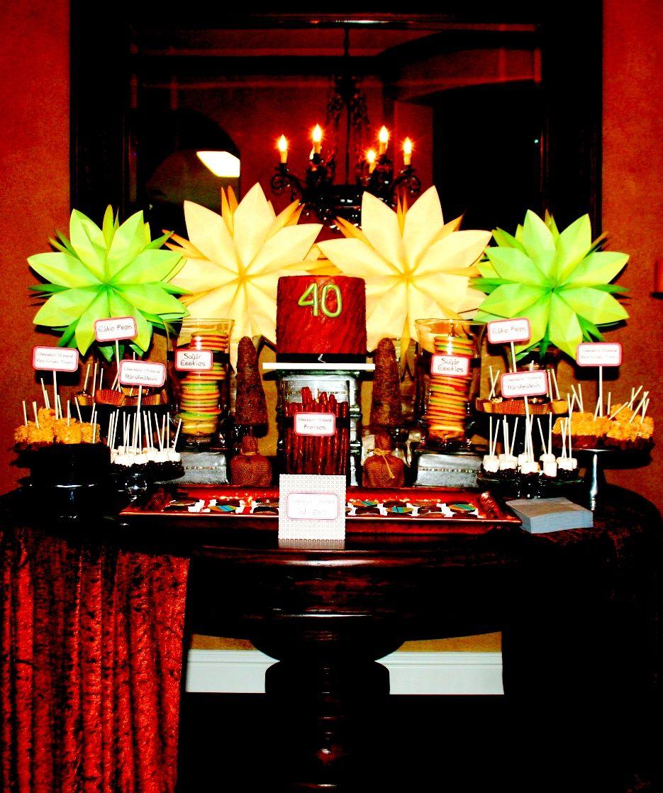 40th Birthday Dessert Bar