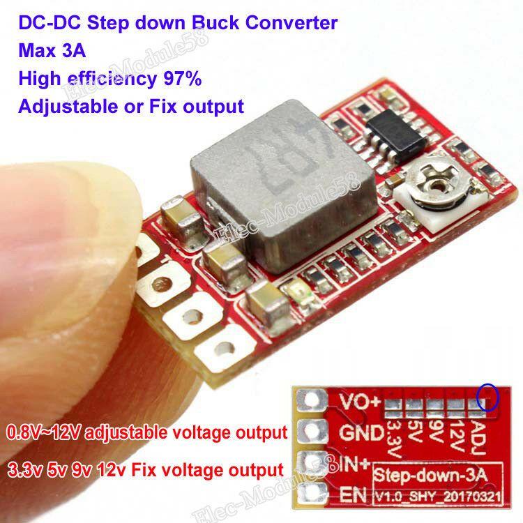 10 Lots Mini DC-DC Converter Step Down Module Adjustable 12 V 5 V for R 16 v 1 v